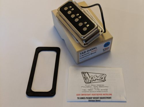 TV Jones T-Armond™ DeArmond Mount Bridge Pickup in Nickel EX DEMO